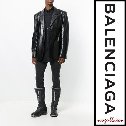 BALENCIAGA Shirts Long Sleeves Plain Cotton Oversized Shirts 8