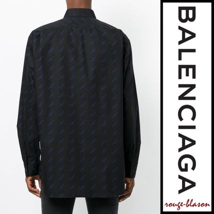 BALENCIAGA Shirts Long Sleeves Plain Cotton Oversized Shirts 9