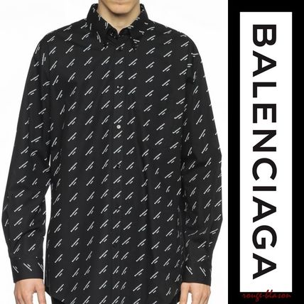 BALENCIAGA Shirts Long Sleeves Plain Cotton Oversized Shirts 3
