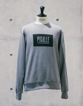 PIGALLE Crew Neck Pullovers Street Style Long Sleeves Cotton