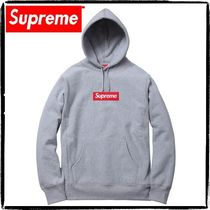 Supreme Pullovers Sweat Street Style Long Sleeves Plain Hoodies
