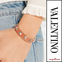 VALENTINO Casual Style Leather Bracelets