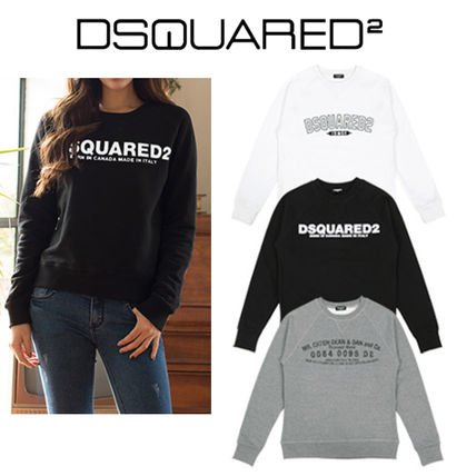 D SQUARED2 Street Style U-Neck Long Sleeves Cotton Long Sleeve T-Shirts