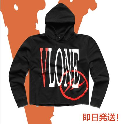 Pullovers Collaboration Long Sleeves Plain Cotton Hoodies