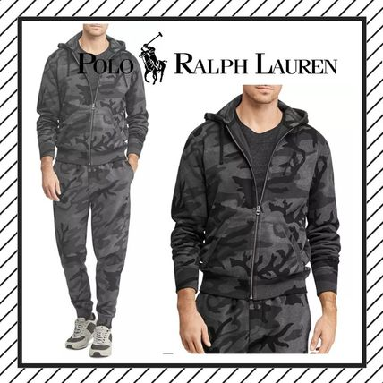 Pullovers Camouflage Long Sleeves Cotton Hoodies
