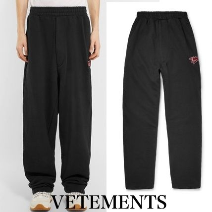 VETEMENTS Street Style Plain Cotton Pants