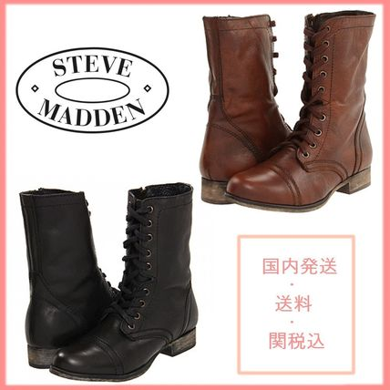 Lace-up Casual Style Leather Lace-up Boots