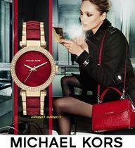 Michael Kors Blended Fabrics Round Quartz Watches Stainless Elegant Style