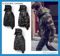 CANADA GOOSE Short Camouflage Street Style Plain Down Jackets