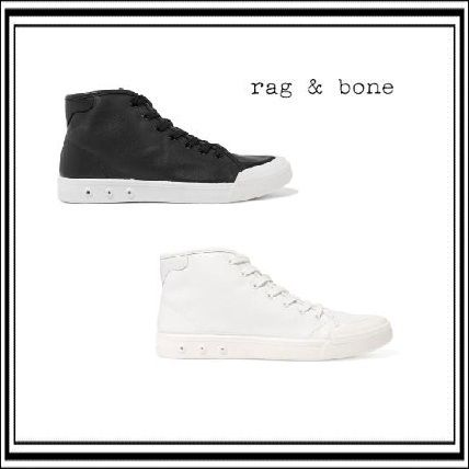 Rug and bone leather high top sneaker
