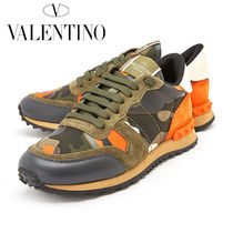 VALENTINO Camouflage Unisex Leather Sneakers
