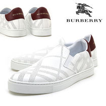 Burberry Other Check Patterns Leather Loafers & Slip-ons