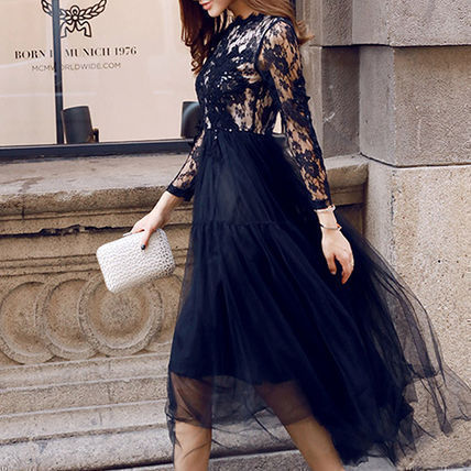 Flower Patterns Flared Cropped Long Home Party Ideas Lace
