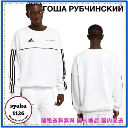 Gosha Rubchinskiy Crew Neck Pullovers Stripes Collaboration Long Sleeves