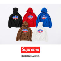 Supreme Street Style Collaboration Cotton Hoodies