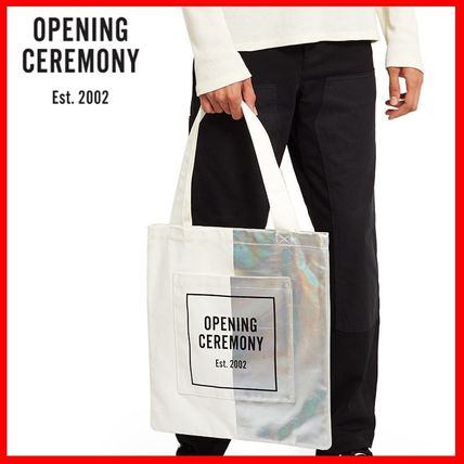 OPENING CEREMONY Casual Style Unisex A4 Totes