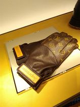 Louis Vuitton MONOGRAM Monogram Collaboration Leather Leather & Faux Leather Gloves
