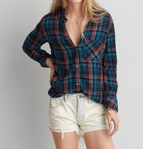 American Eagle Outfitters Other Check Patterns Casual Style Long Sleeves Cotton Medium