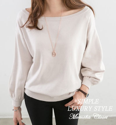 Puff Sleeves Sweaters