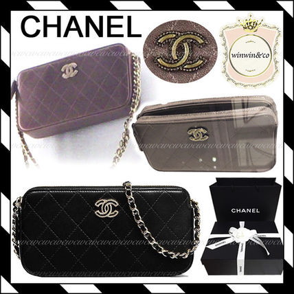 CHANEL Clutches Chain Plain Elegant Style Clutches