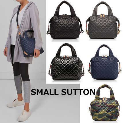 Camouflage Casual Style Nylon 2WAY Plain Shoulder Bags