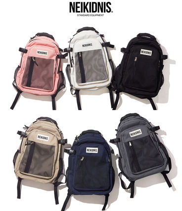 Casual Style Unisex A4 Plain Backpacks