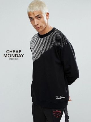 Crew Neck Pullovers Sweat Street Style Long Sleeves