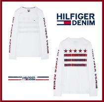 Tommy Hilfiger Crew Neck Unisex Long Sleeves Cotton Logos on the Sleeves
