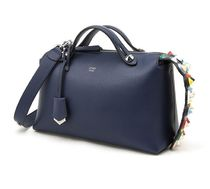 FENDI By The Way Regular Boston Bag With Color Studs / Navy Blue