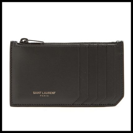 Saint Laurent Unisex Leather Coin Cases
