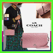 Coach Dusty Rose With Tea Rose Tooling Folded Crossbody Bag