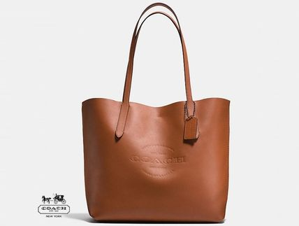 Coach Unisex Plain Leather Totes