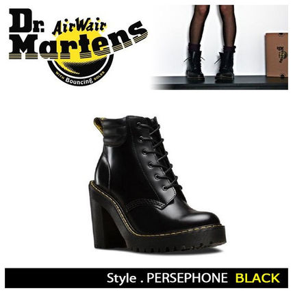 Dr Martens Leather High Heel Boots