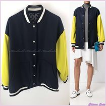MSGM Casual Style Wool Plain Medium Varsity Jackets