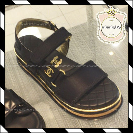 8b8452352357 CHANEL ICON Casual Style Sport Sandals Flat Sandals by winwinco - BUYMA