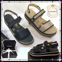2e027c32d938 CHANEL ICON Casual Style Sport Sandals Flat Sandals