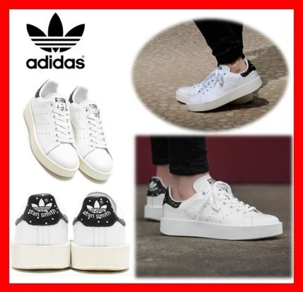 new product 7e5c2 846b9 adidas STAN SMITH Platform Casual Style Platform & Wedge Sneakers (BA7771)