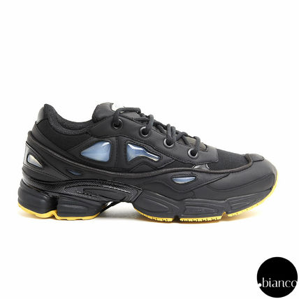 RAF SIMONS Street Style Collaboration Bi-color Leather U Tips Sneakers