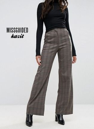 Missguided Other Check Patterns Casual Style Pants