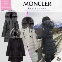 MONCLER APHROTITI Fur Plain Medium Down Jackets