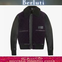 Berluti Leather Biker Jackets