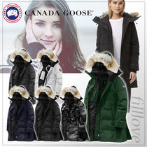 CANADA GOOSE Camouflage Fur Plain Long Down Jackets
