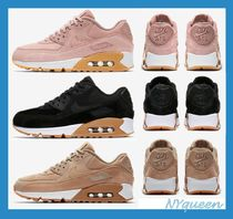 Nike AIR MAX 90 Casual Style Street Style Plain Leather Low-Top Sneakers