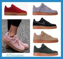 Nike AIR FORCE 1 Street Style Plain Leather Party Style Low-Top Sneakers