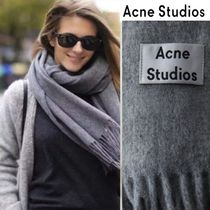 Acne Wool Plain Fringes Heavy Scarves & Shawls