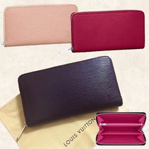 Louis Vuitton ZIPPY WALLET Bi-color Plain Leather Bold Long Wallets