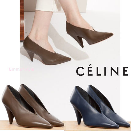 Céline Pointed-Toe Leather Mules free shipping limited edition discount wholesale jYAeRDfUxY