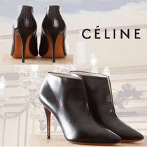 CELINE Plain Leather Pin Heels Pointed Toe Pumps & Mules