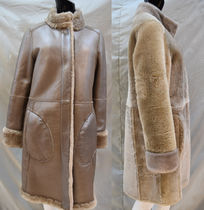 Fur Plain Medium Midi Fur Leather Jackets Biker Jackets