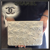 CHANEL ICON Star Unisex Lambskin Bag in Bag 2WAY Plain Clutches